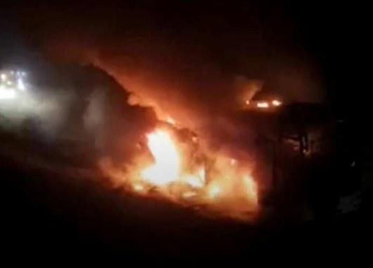 ВГрузии сгорел перевозивший граждан России автобус